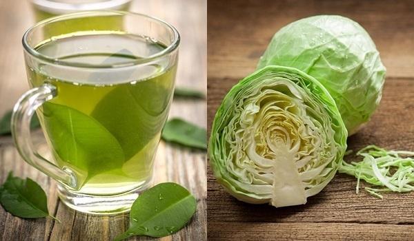 Bắp cải và trà xanh là sự tuyệt vời để chống lão hóa da