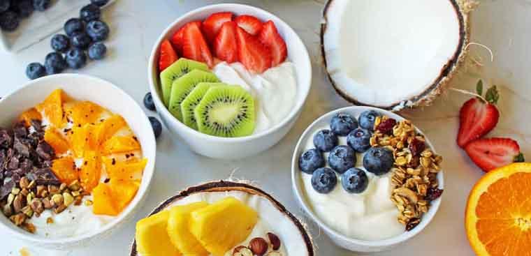Ăn sáng từ hoa quả địa phương