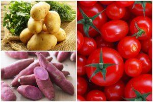 Cà chua và khoai lang là hai món ăn dân dã, dễ kiếm, rẻ tiền