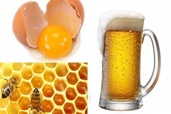 Công thức làm trắng dabằng bia, trứng gà và mật ong