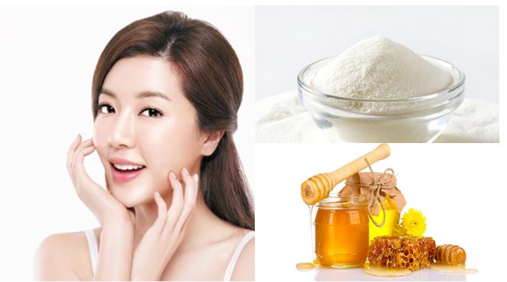Công thức làm trắng da với mặt nạ bột gạo và mật ong