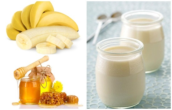 Công thức trắng da siêu việt từ chuối chín, mật ong và sữa chua
