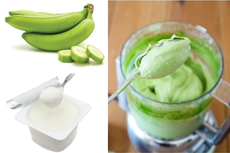 Dùng chuối xanh và sữa chua không đường để trị những vết nám lâu năm