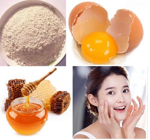 Dưỡng trắng và nuôi dưỡng làn da bằng trứng gà + bột gạo lứt + mật ongDưỡng trắng và nuôi dưỡng làn da bằng trứng gà + bột gạo lứt + mật ong