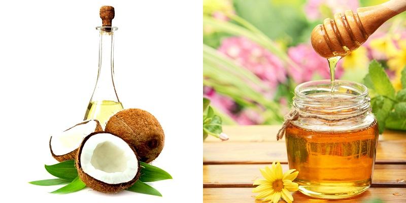 Mật ong và dầu dừa cho làn da khô