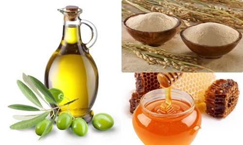 Sữa rữa mặt được làm từ bột gạo lứt + dầu ô liu + mật ong giúp làn da sáng mịn