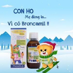 Siro ho Broncamil- Sản phẩm trị ho và giảm viêm phế quản số 1 hiện nay